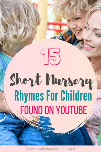 nursery rhyme songs found on youtube