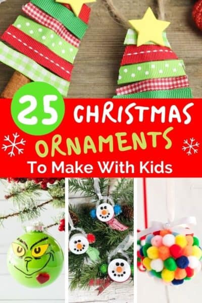 DIY christmas ornaments to make with your kids