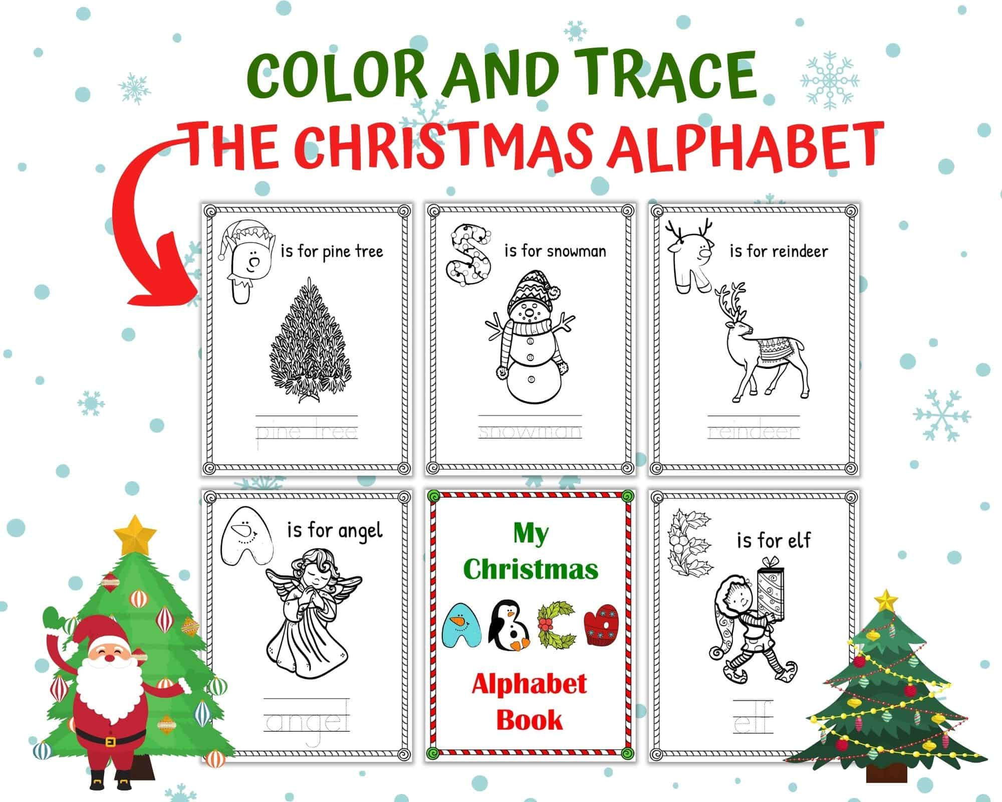 Free Christmas Alphabet Worksheets For Kindergarten One Perfectly Imperfect Mom