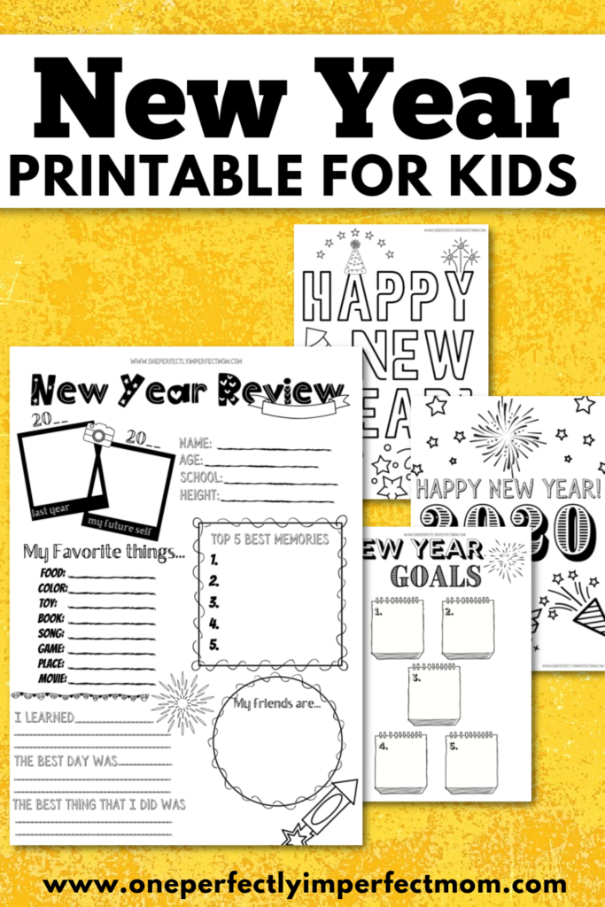 New year printable