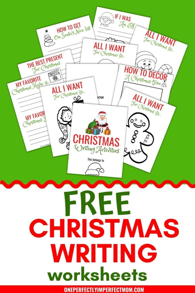 free christmas writing worksheets