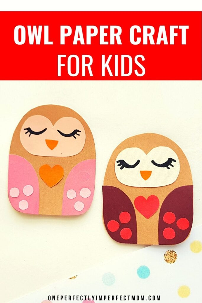 owl paper craft for kid