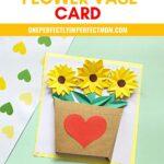 flower vase card craft