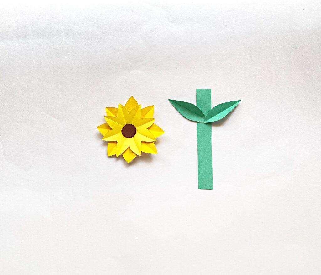 flower vase card craft step  4