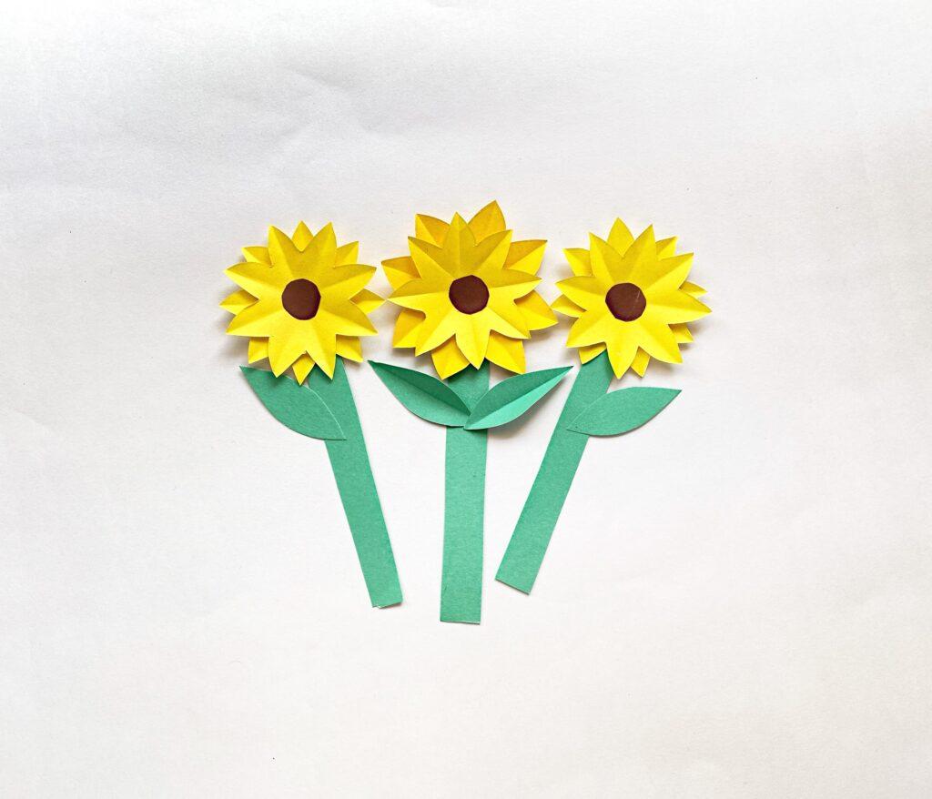 flower vase card craft step 6