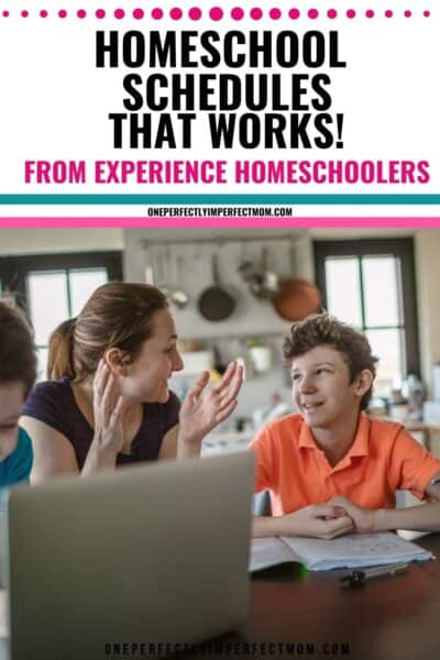 homeschooling schedules