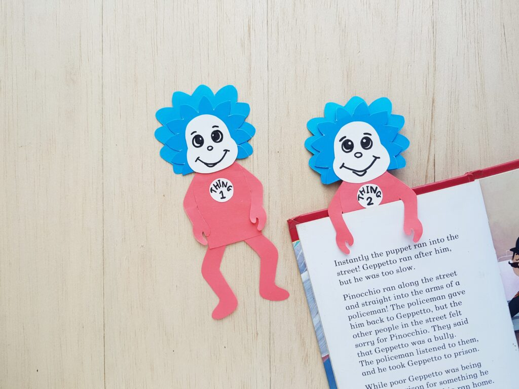 Thing 1 and 2 Bookmark One