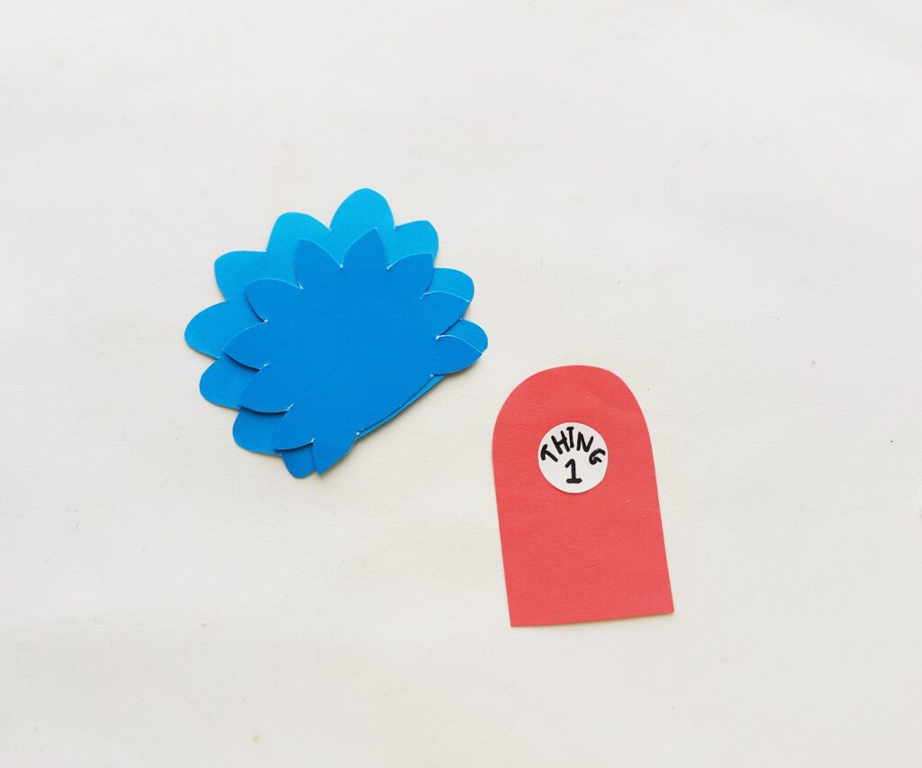Thing 1 and 2 bookmark Step 2