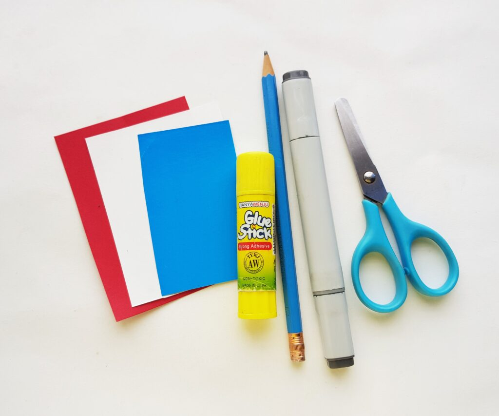 Thing 1 and 2 bookmark craft supplies
