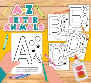 Alphabet Animal Crafts