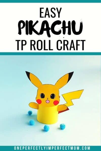 PIKACHU TOILET PAPER ROLL CRAFT