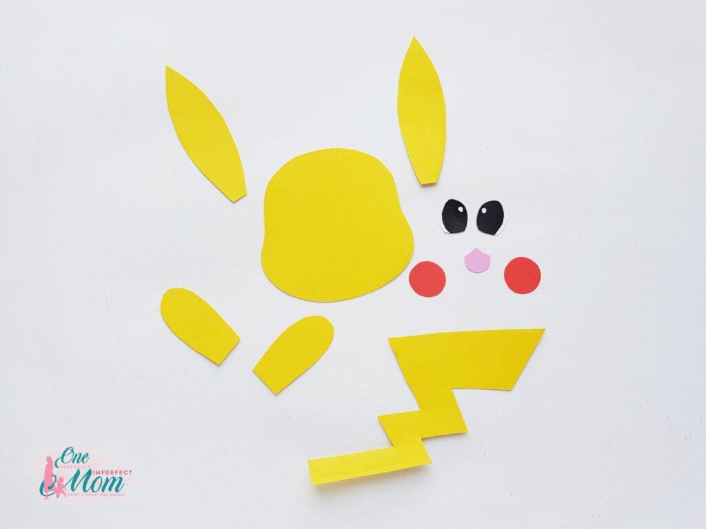 Pikachu Toilet Paper Roll Craft step 3 Pikachu pattern