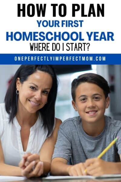 planning your first homeschool year